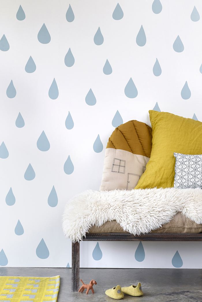 Bloesem kids | Win Hibou Home Raindrops wallpaper worth $299