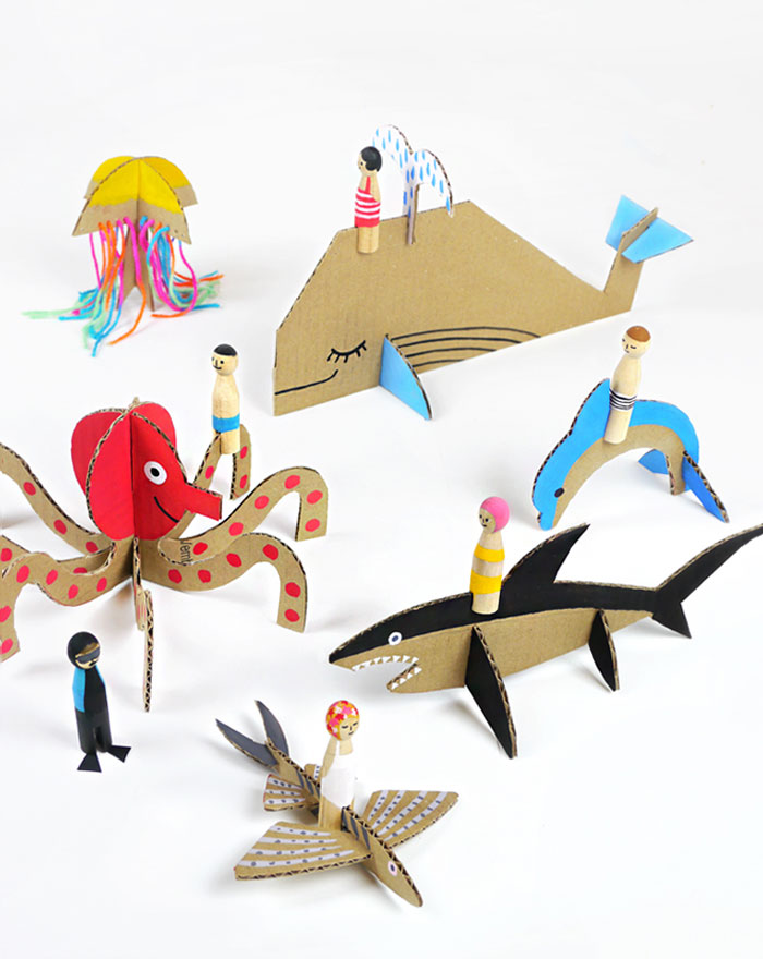 3 Creative Crafts Using Cardboard