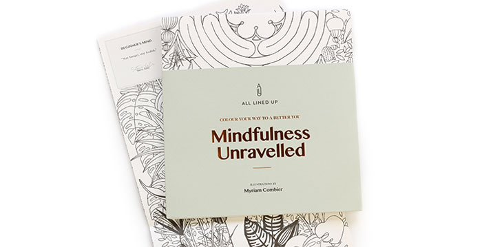 Bloesem Living   Mindfulness Unravelled, A Colouring Book