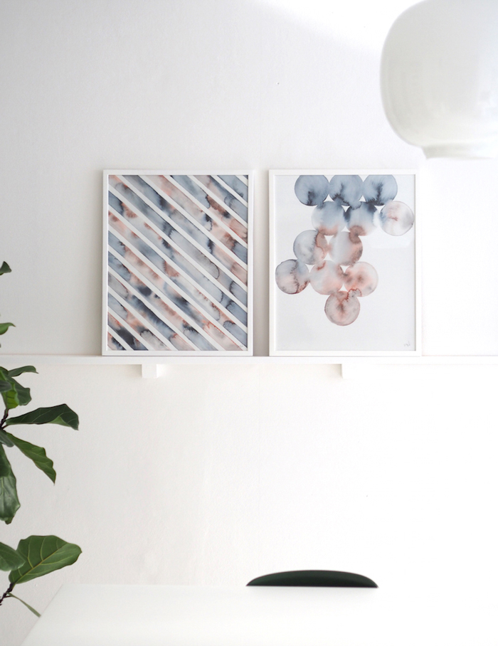Bloesem Living | Silke Bonde's latest watercolour art print collection: Under Water