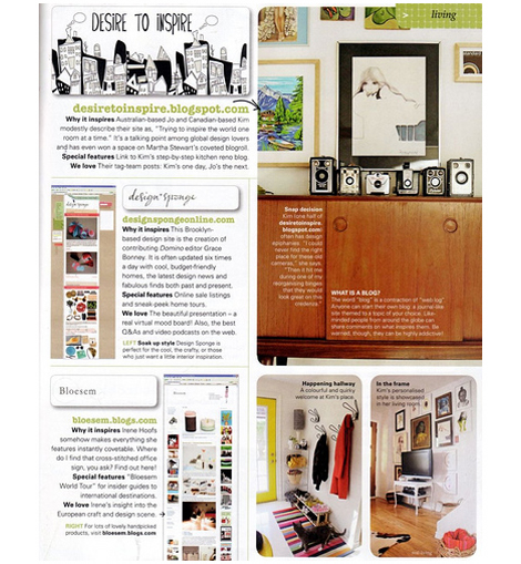 Bloesem feature real living magazine 2008 press feature