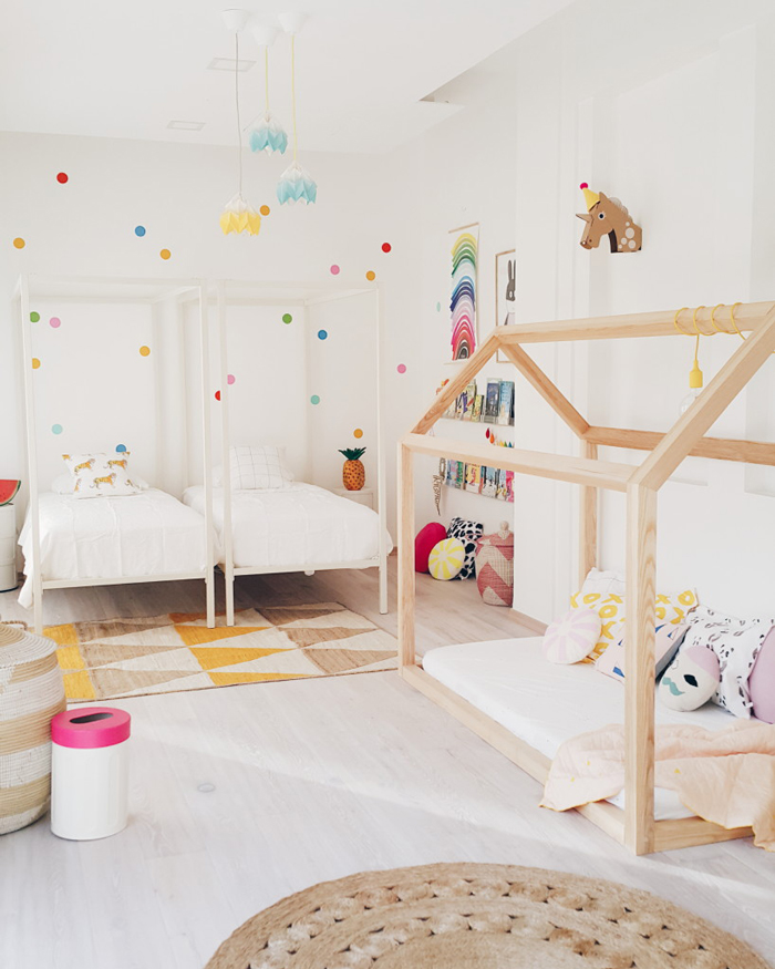 Kids Rooms Climbing Walls And Contemporary Schemes: » 9 Shared Kids Room Inspirations