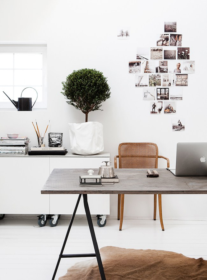Bloesem Living l Inspirations for a monochromatic workspace