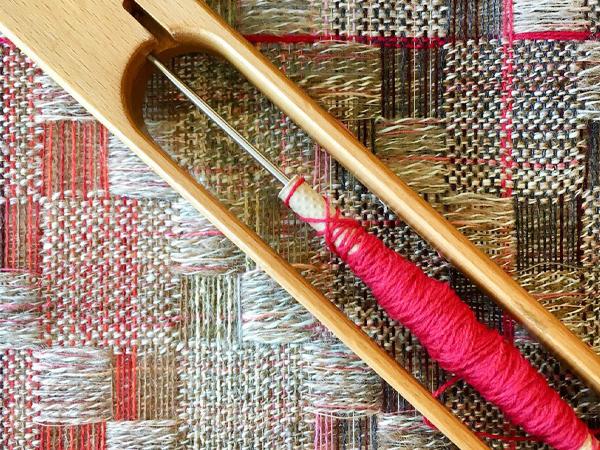 weaving artist Veronica Pock close-up