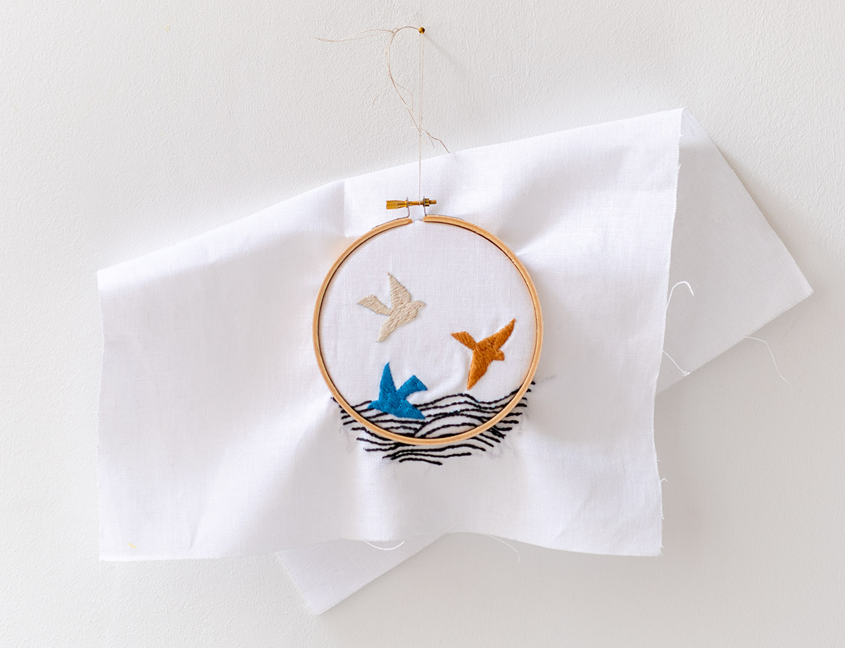 Contemporary Needlework Birds by Jurianne Matter