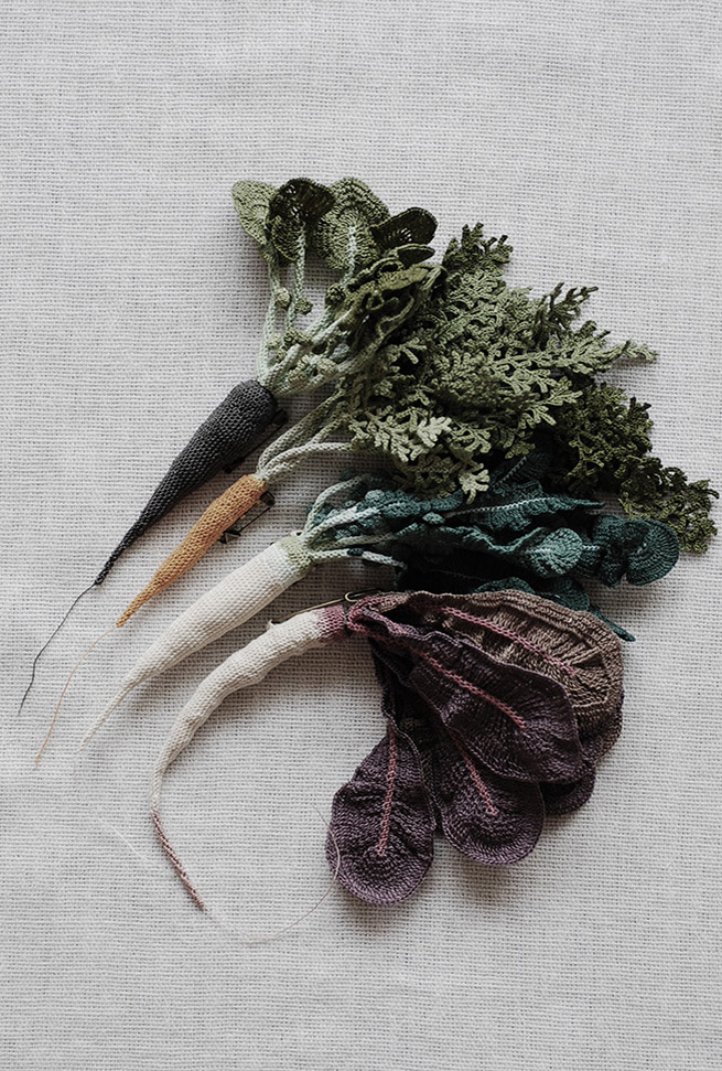 Knitted Lace Vegetables by Jung Jung