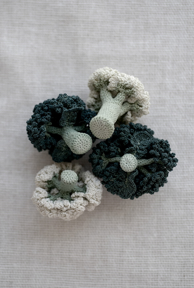 Knitted Lace Vegetables by Jung Jung 03