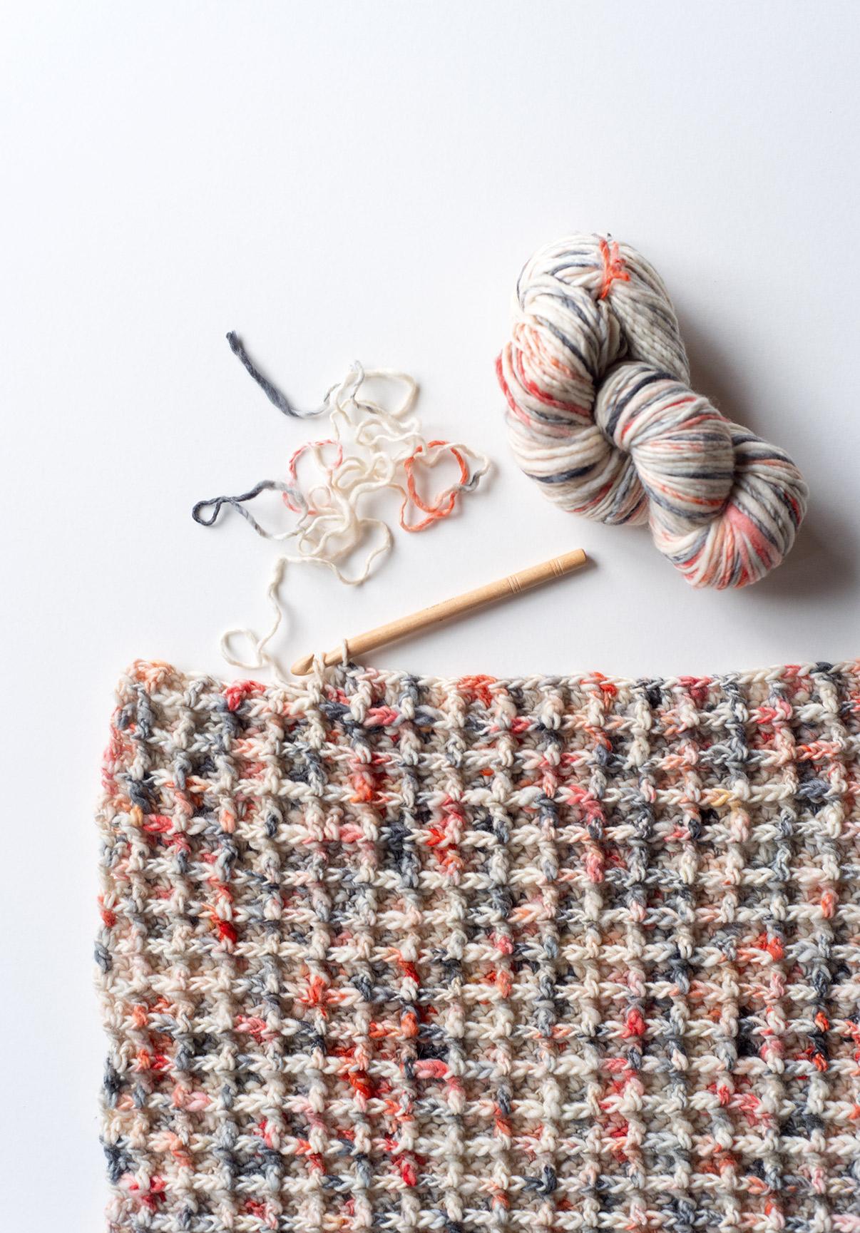 Koel Magazine 5 - crochet waffle stitch pattern 02