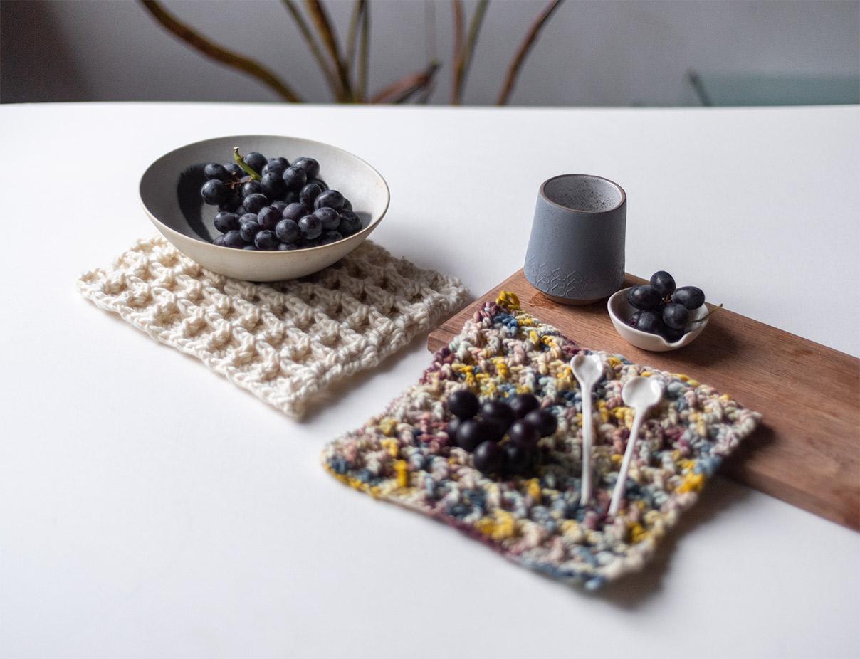 Koel Magazine 5 - crochet waffle stitch pattern