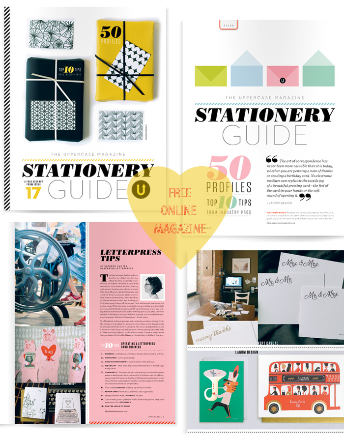 free stationery guide