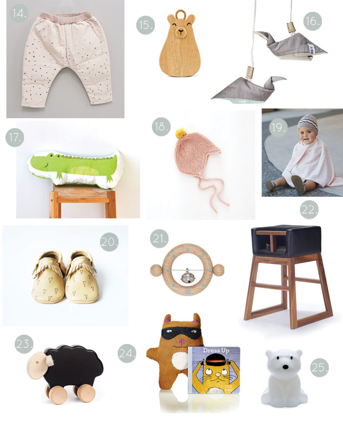 Bloesem Giving | Gift guide: 25 picks for baby gifts this holiday season