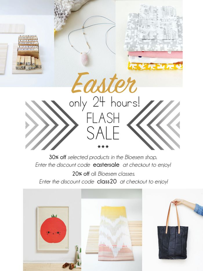 Bloesem living | 24 hour Easter sale on Bloesem.co