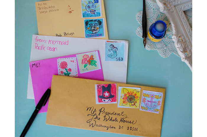 Project 89 how to make retro postage stamps for Post office design your own stamps