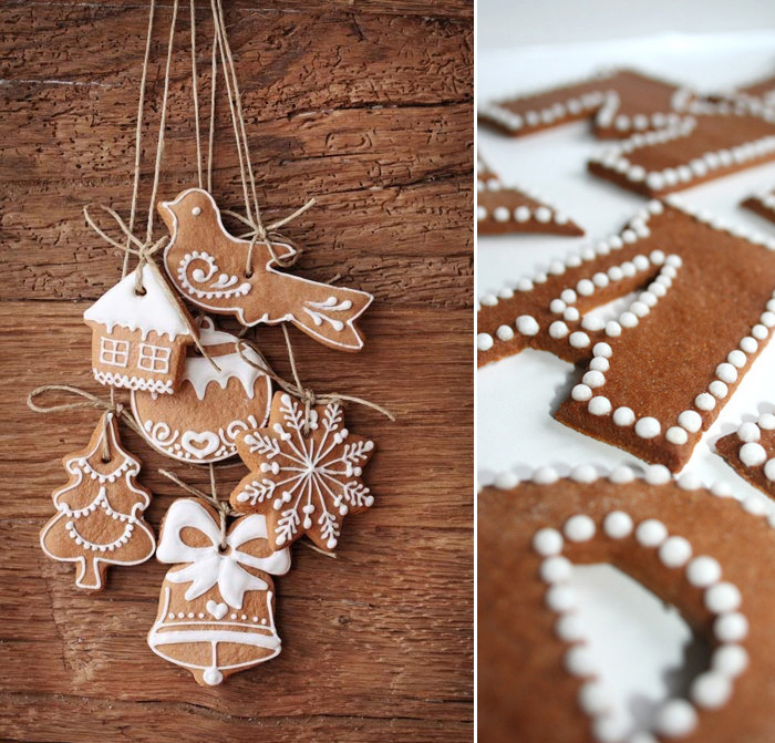 gingerbread the traditional gingerbread ornaments idea but look how beautiful - Gingerbread Christmas Decorations Beautiful To Look