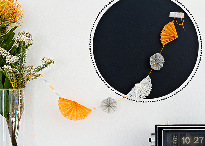 Craft diy garland orange