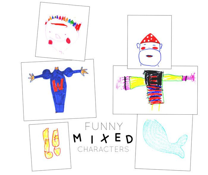Bloesem Kids | Kids travel crafts - funny mixed characters by Anouk van der El of TimeCapsule