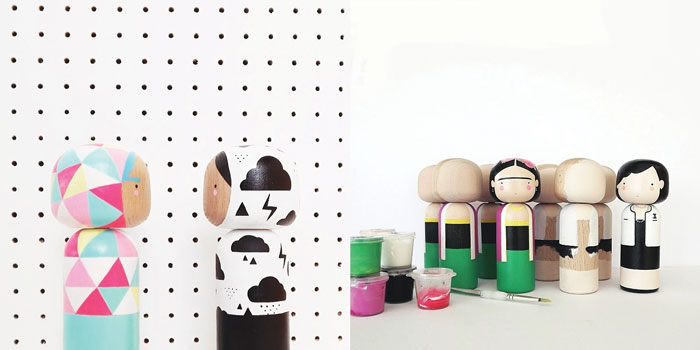 Bloesem Kids | The Whimsical world of Sketch Inc.- wooden dolls and patterns