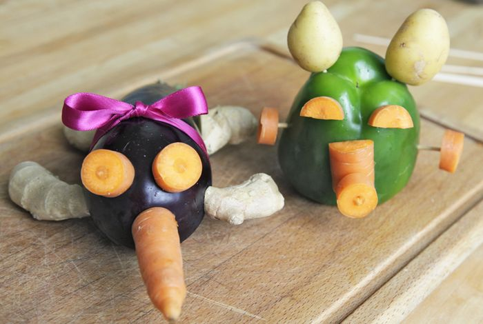 Bloesem Kids | Make your own Veggie Creatures! Kids craft by Yuliya of Yufrukt
