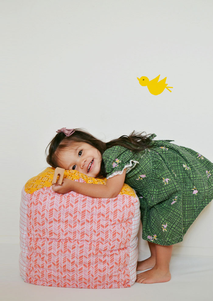 Bloesem Kids | DIY craft project: Make your own House Block Pillow by Ruby Ellen Bratcher, Cakies Blog
