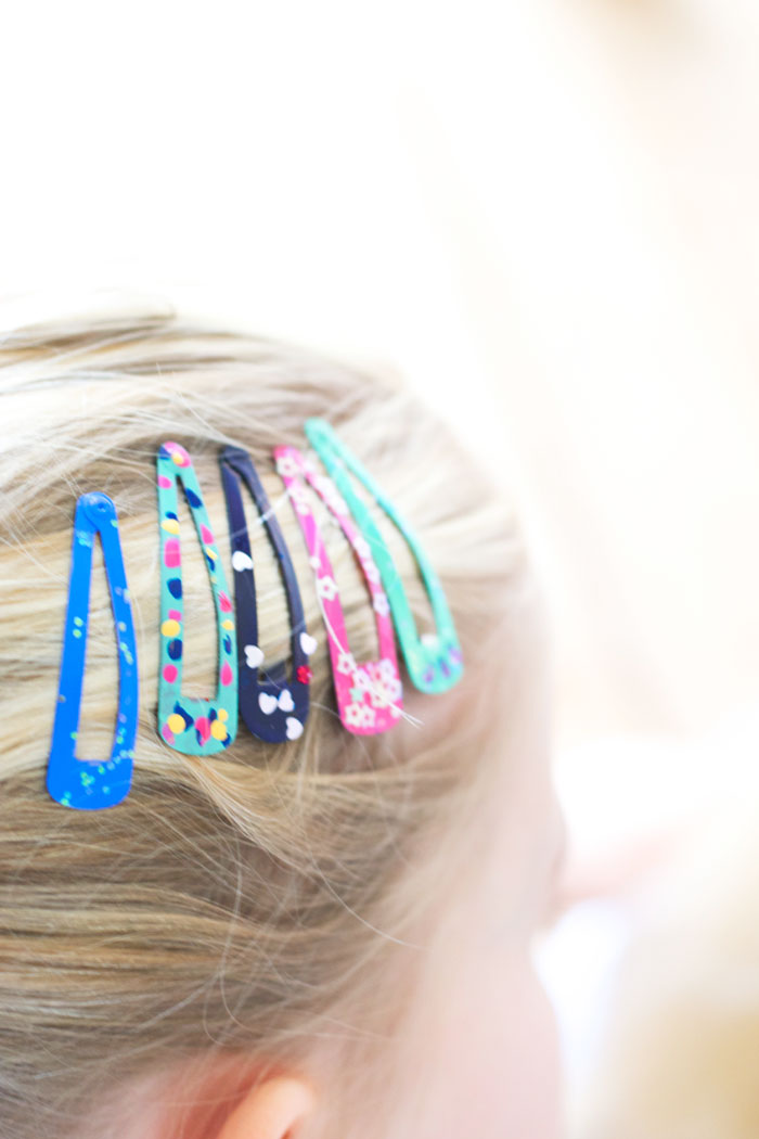 Bloesem kids | DIY nail polish hair clips