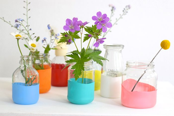 Bloesem kids craft | DIY summer vases