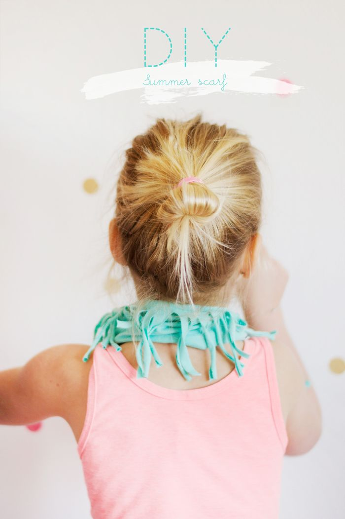 Bloesem kids | DIY 5 minute summer scarf